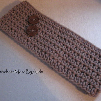 Crochet Head Band, Winter HairBand, Brown EarWarmer, Bohemian Ear Warmer, Winter Fashion, Ski Band, Women and Teens, Winter Accessories