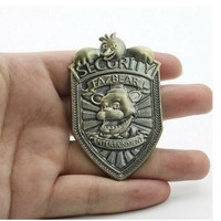 Hot Sale  At  Vintage Freddy Security Badge Pin  Cosplay