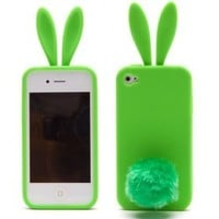 buy cheap Rabbit style with Furry Tail Silicone Bunny Case for iPhone5 (8 Color Optional) wholesale on China Gadget Land