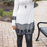 Lace with Grace Tunic Top