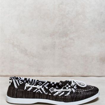 Lurex Printed Boat Shoes