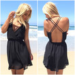 Jetsetter Cross Back Dress In Black