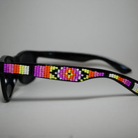 beaded sunglasses tribal print native american inspired