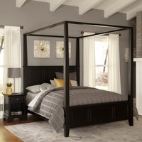 Home Styles Bedford Canopy Bed - Black (Queen)