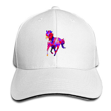 Geometric Cool Horse Baseball Hats