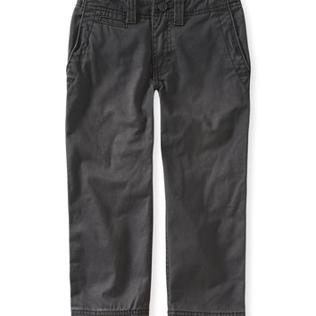 PS from Aero  Boys Flat-Front Chinos - Gray, 4