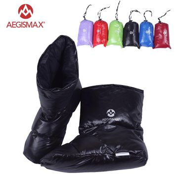 AEGISMAX Duck Down Slippers Shoes Bootees Boots Footwear Camping Feet Cover Warm Hiking Outdoor