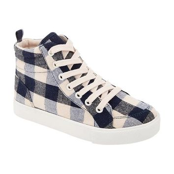 Old Navy Girls Buffalo Plaid High Tops