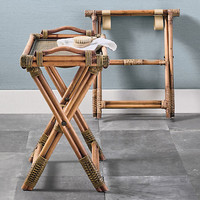 Rattan Tray & Luggage Rack | Gump's