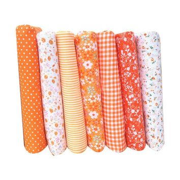 Hot Selling 7Pcs/Set Quilting Fabric Floral Cotton Cloth DIY Craft Sewing Handmade Accessory TL
