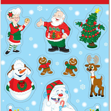 "Winter/Christmas Stickers - 4.75"""" x 7.5"""" Case Pack 12"