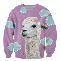 Cloud Llama Printed Sweater