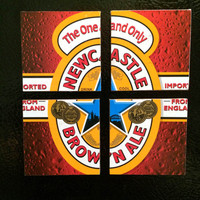 Newcastle Brown Ale Beer Magnets From Recycled 6 Packs - English Beer Fridge Magnets