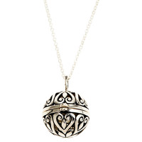 "One Kings Lane - Close to Your Heart - 3/4"" Silver Ball Locket, 18""Chain"