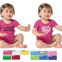 PRE ORDER Love Wins Infant, Toddler and Youth Tees and Onesuit