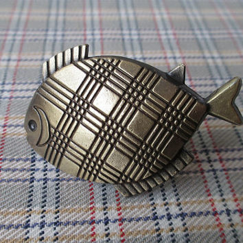 Fish Kitchen Cabinet Knobs Pulls Handles Antique Bronze / Nautical Dresser Drawer Knobs Vintage Furniture Knob Pull Handle Hardware 141