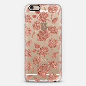 Rose Gold Roses Clear iPhone 6 case by Lauren Victoria Reeves | Casetify