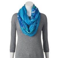 Apt. 9 Floral Mixed-Media Infinity Scarf, Size: One