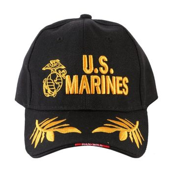 "Embroidery Letter ""Marines"" Baseball Caps Cotton Fitted Tactical Casual Sports Outdoor Cap"