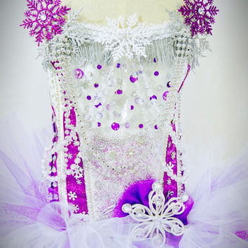 Purple Ice queen costume with tutu / dance costume / snow queen / rave costume / EDC