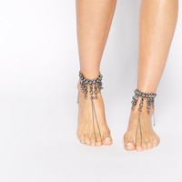 New Look Ethnic Ball Anklet & Foot Harness