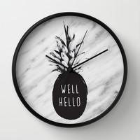 Well Hello Wall Clock by Cafelab