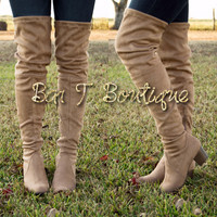 Your Favorite Knee High Boots ~ Taupe
