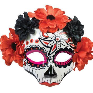 Day Of Dead Skull Female Mask awesome for Halloween