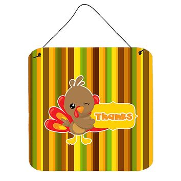 Thanksgiving Turkey Thanks Wall or Door Hanging Prints BB7116DS66