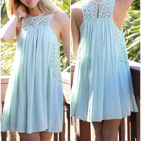 Cool Confidence Mint Woven Sleeveless Dress