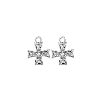 SQUARE CROSS EARRING CHARMS