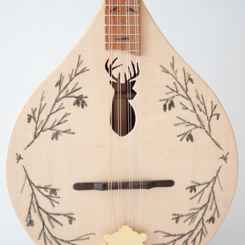 NEW  ( Stag/deer head )  flat top/back mandolin