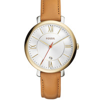 Brands | Women's Watches | Ladies Jacqueline Two-Tone Stainless Steel Leather Strap Watch | Lord and Taylor