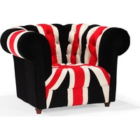 """Union Jack Armchair Red White & Black Wood"""