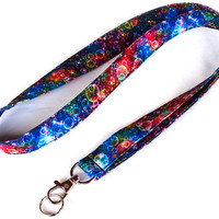 Colorful Lanyard. Key Lanyard. Bubbles Lanyard. ID Holder. Fashion Accessories