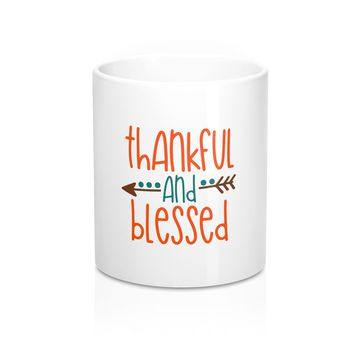 Thankful and Blessed Mug