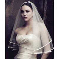 Beautiful Satin Edge Veil For Brides China Wholesale - Everbuying.com