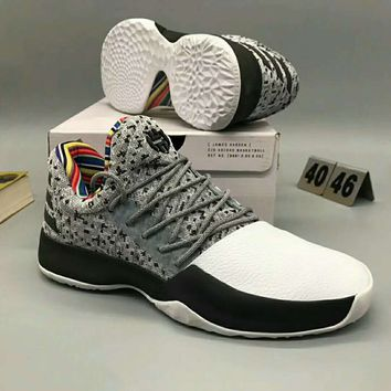 Adidas Harden Boost Vol.1 Women Casual Running Sport Shoes Sneakers Grey G-MPYDX