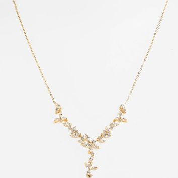 Nadri Papillon Crystal Y-Necklace | Nordstrom