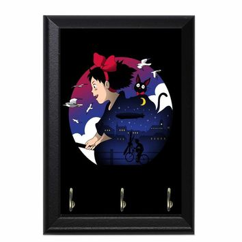 A Young Witches Journey Decorative Wall Plaque Key Holder Hanger