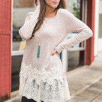 Lucky Lady Tunic, Taupe