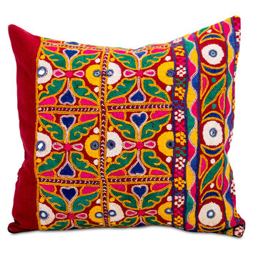 Mumbai Embroidered Pillow