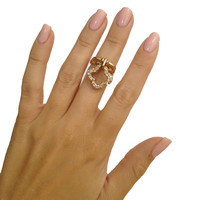 Dangling Clover Midi-Ring or Ring