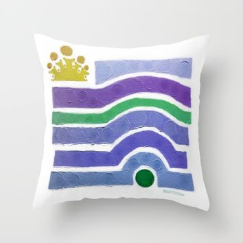:: Princess n' Pea (purply) :: Throw Pillow by :: GaleStorm Artworks ::