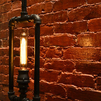 Hanging Pendant Rectangle Box Industrial Pipe Light