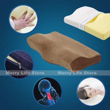 60cm 24inch Big Bed Memory Foam Pillow and Cover with Zipper Ergonomic for Neck Pain Back Side Sleeper Anti Snoring Queen Size
