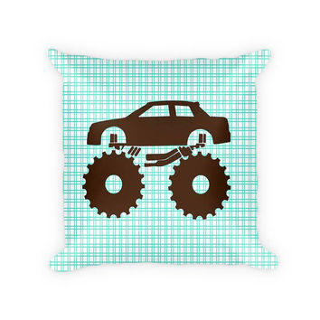 Monster Truck Children's Cotton Poly Pillow