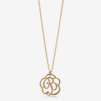 Script Monogram L Pendant Necklace