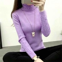 MY MALL METRO  Women Turtleneck Knitwear Full-Sleeve Sweater  Check Homepage for Promo Codes! <