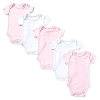 Starting Out Newborn-6 Months 5-Pack Short-Sleeve Bodysuits - Light Pi